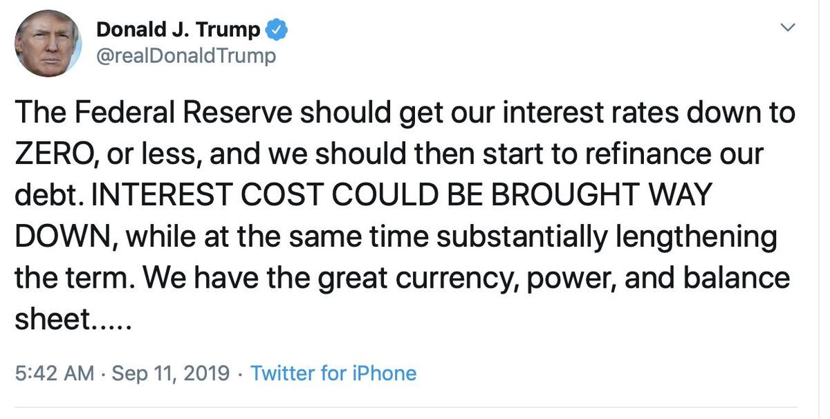 Donald Trump tweet from 9-11-19