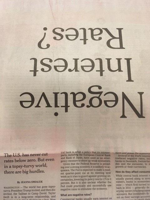 Upside-down Headline