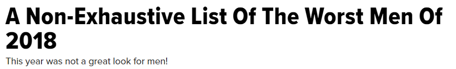 Non_Exhaustive List of the Worst Men of 2018