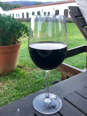 The near-black color of our wine